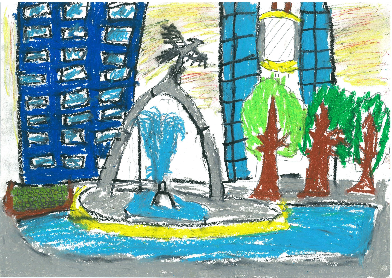 元町・山手賞 「横浜市立大曽根小学校4年 横溝育朗 「元町の未来」
