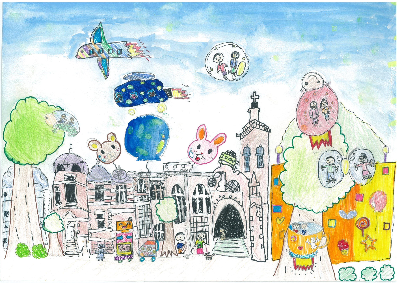 関内賞 横浜市立日下小学校2年 橋本芽依 「みんななかよしみらいのよこはま」