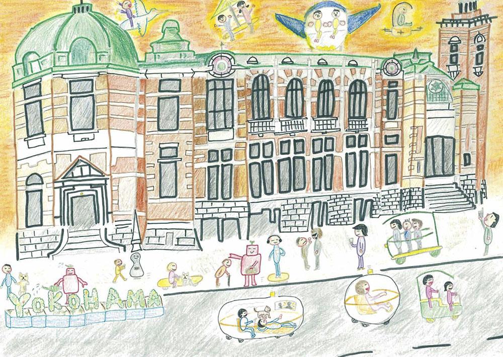 馬車道賞 横浜市立中尾小学校6年 井上 心春「変わらない町並み」