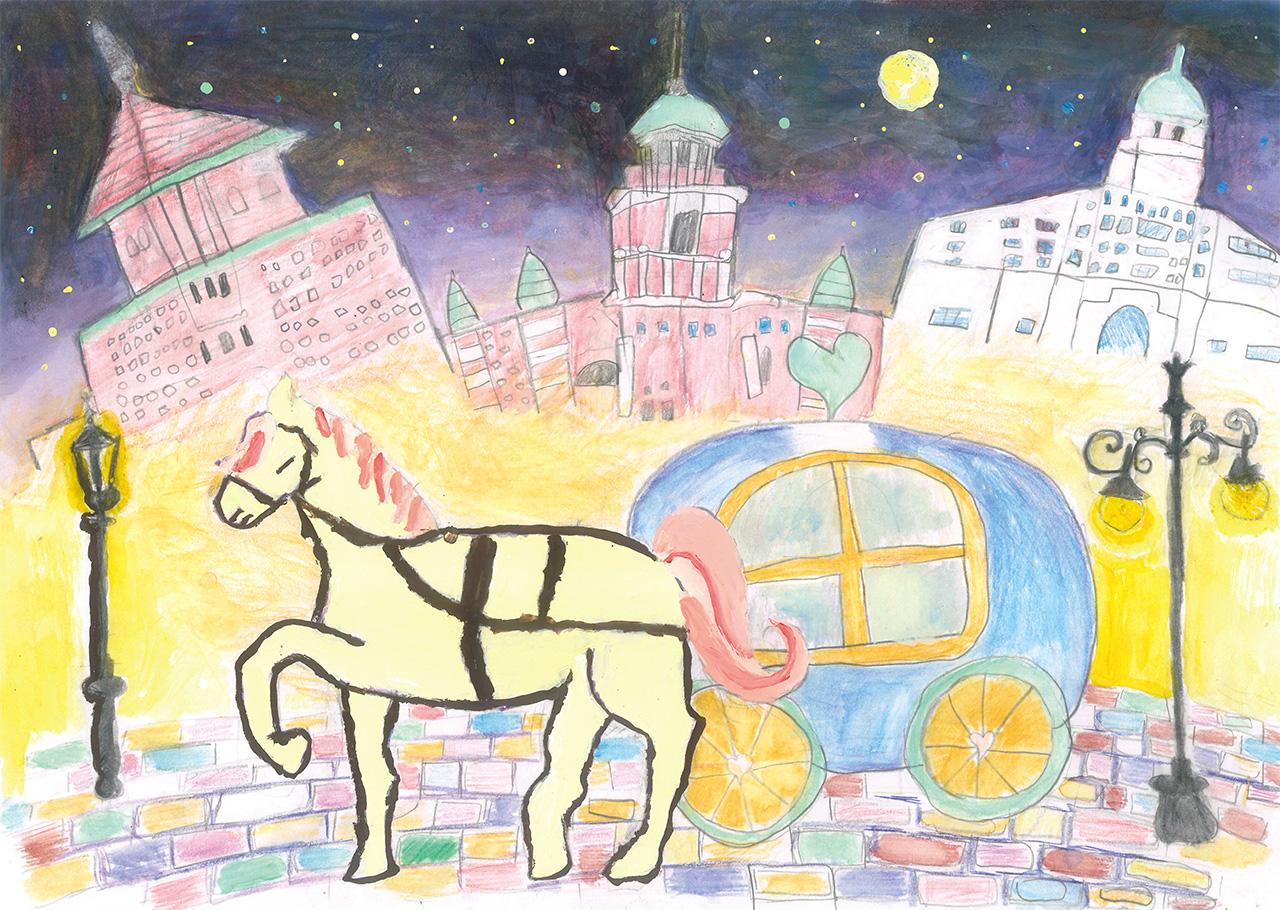 「かがやく夜の馬車道」