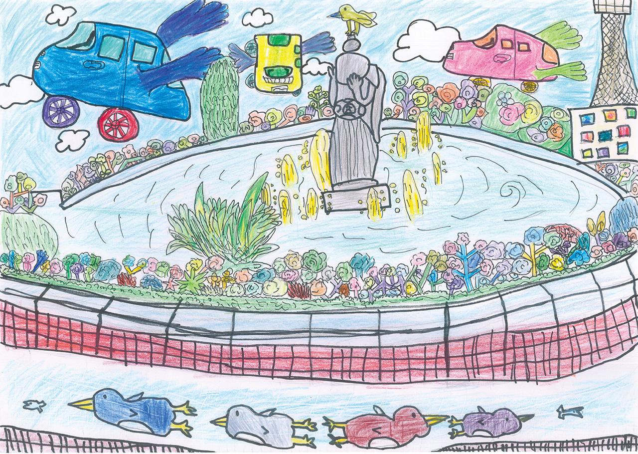 「みんなの噴水水族館」