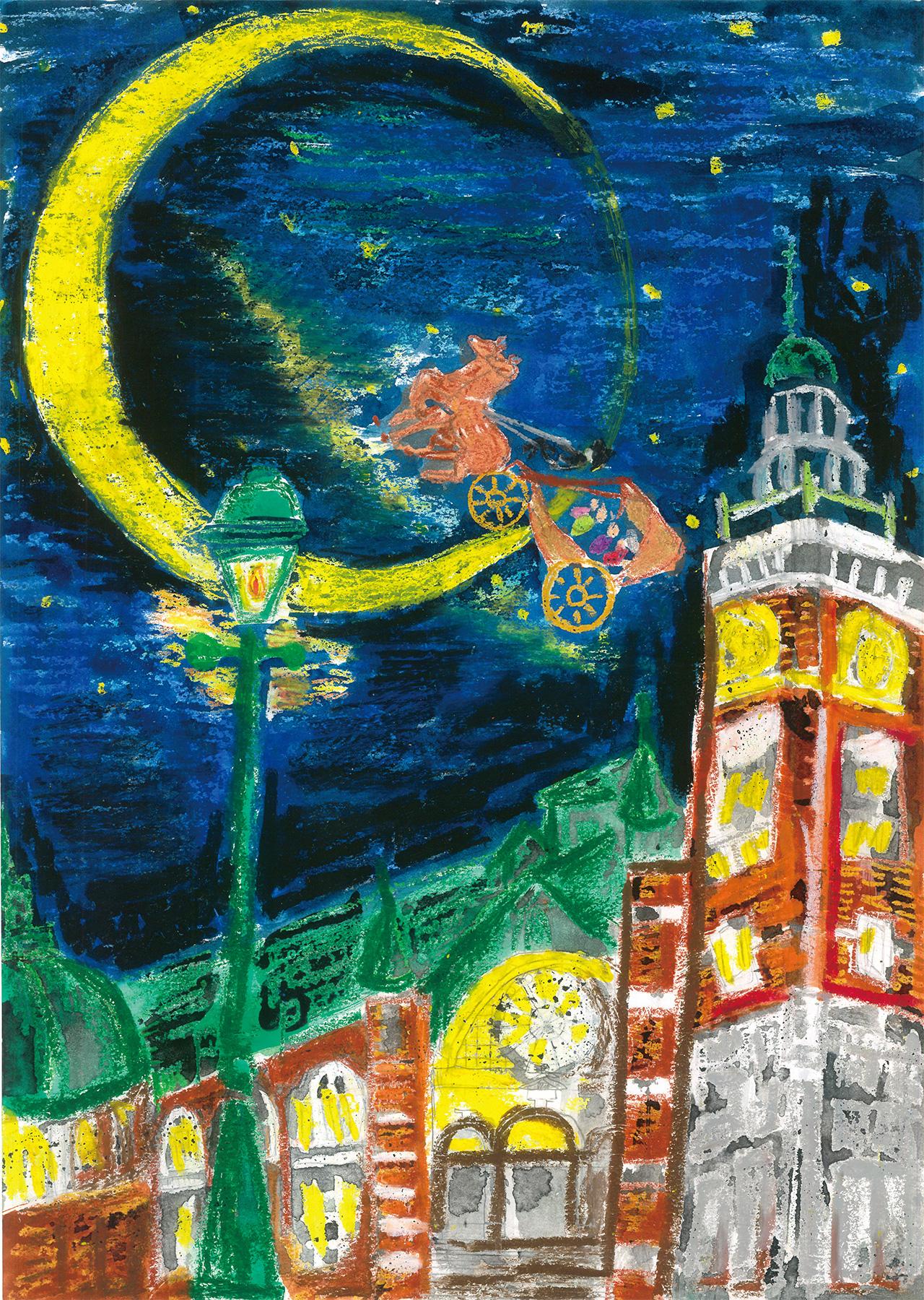 「馬車で夜空観光」