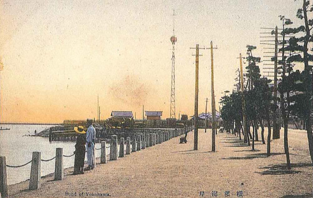 海岸通りの松並木(横浜開港資料館所蔵)